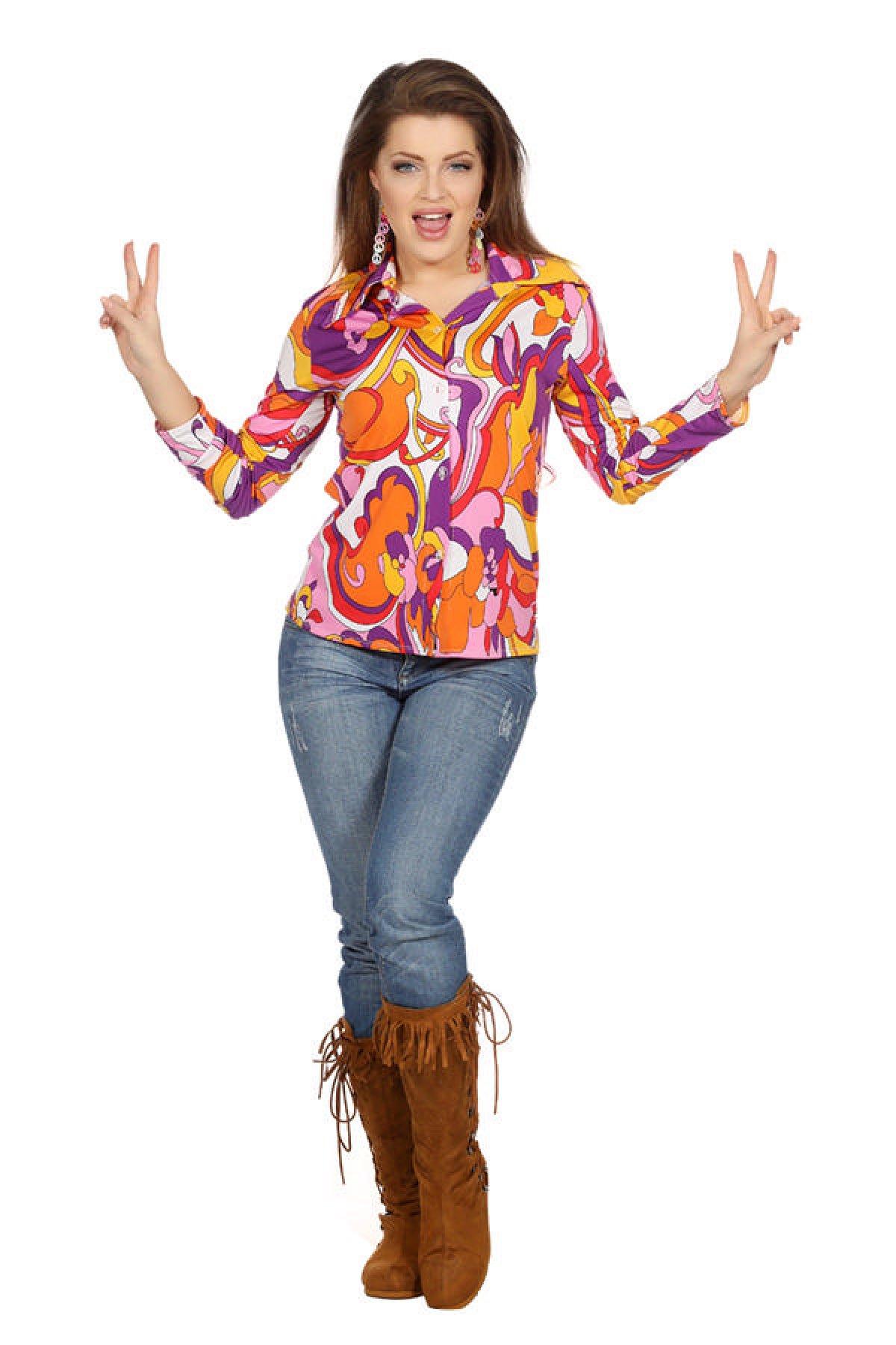 Flower Power Hippie Skjorte | Festkompaniet.no