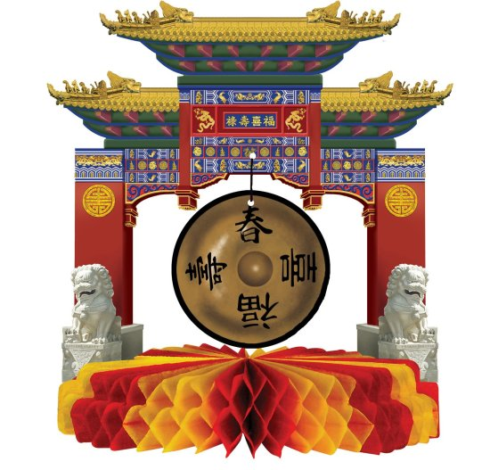 Kinesisk Gong, dekorasjon Festartikler