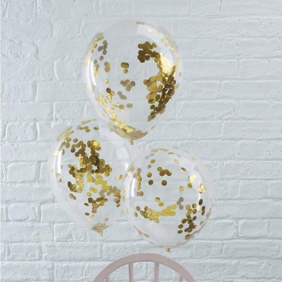 Konfetti Balloner, Guld Festartikler