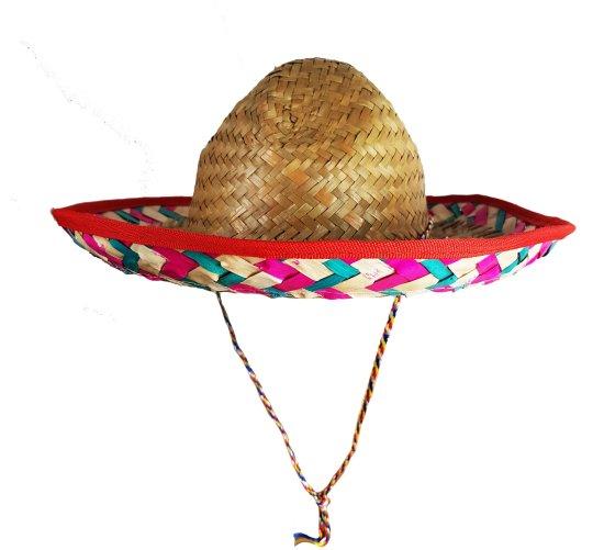 Lille Sombrero Hat, R?d/Hvid Tilbeh?r