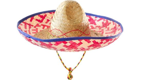 Sombrero, r?d/blaa Tilbeh?r