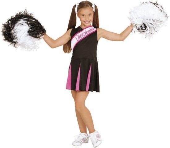 Svart/Rosa Cheerleader kostyme