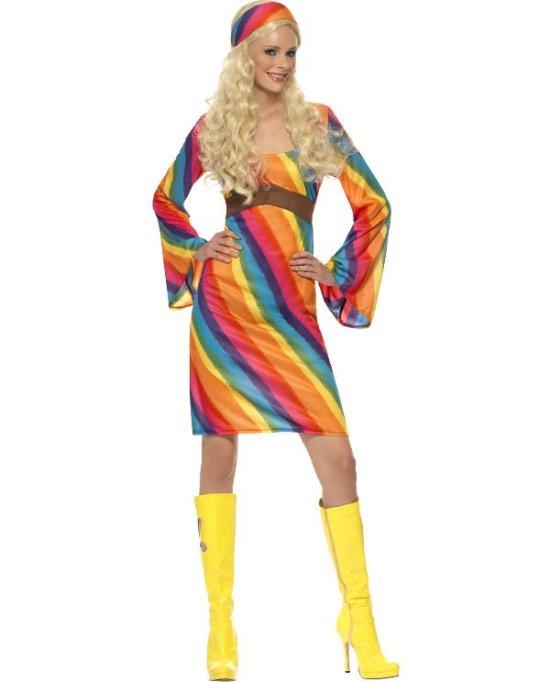 Regnbuehippie kostyme