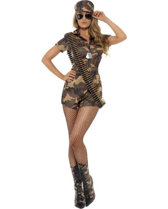 Frekk militaerjente kostyme