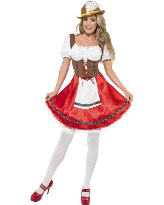 R?d oktoberkjole kostyme