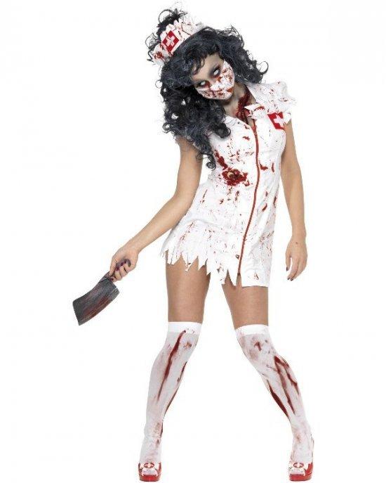Zombiesykepleier kostyme