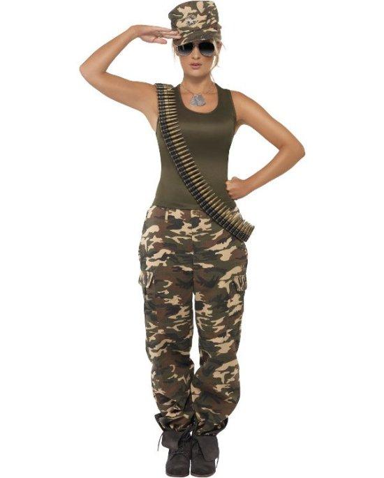 Kvinnelig soldat kostyme
