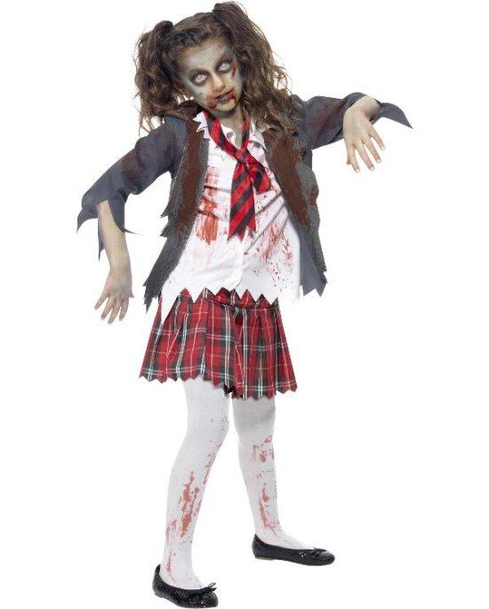 Liten zombie-skolejente Kostymer