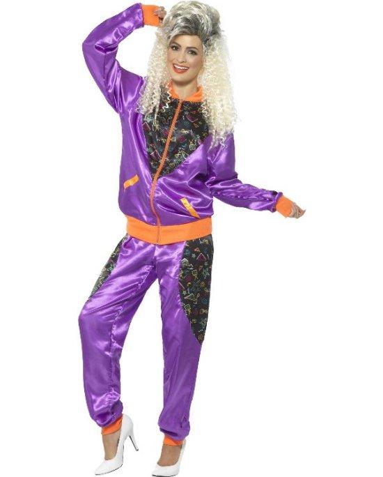 80-talls treningsdrakt, lilla Kostymer