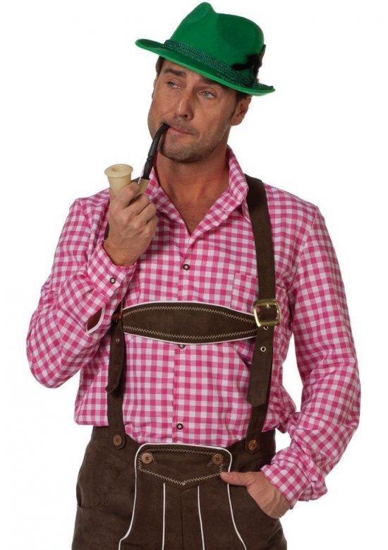 T?ff tyrolerskjorte, rosa Kostymer