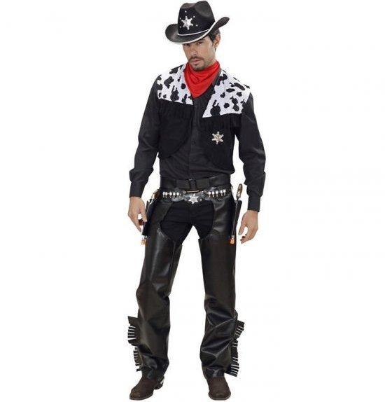 Svart cowboy kostyme