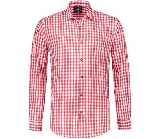 Tyrolerskjorte med r?d/hvite ruter Kostymer